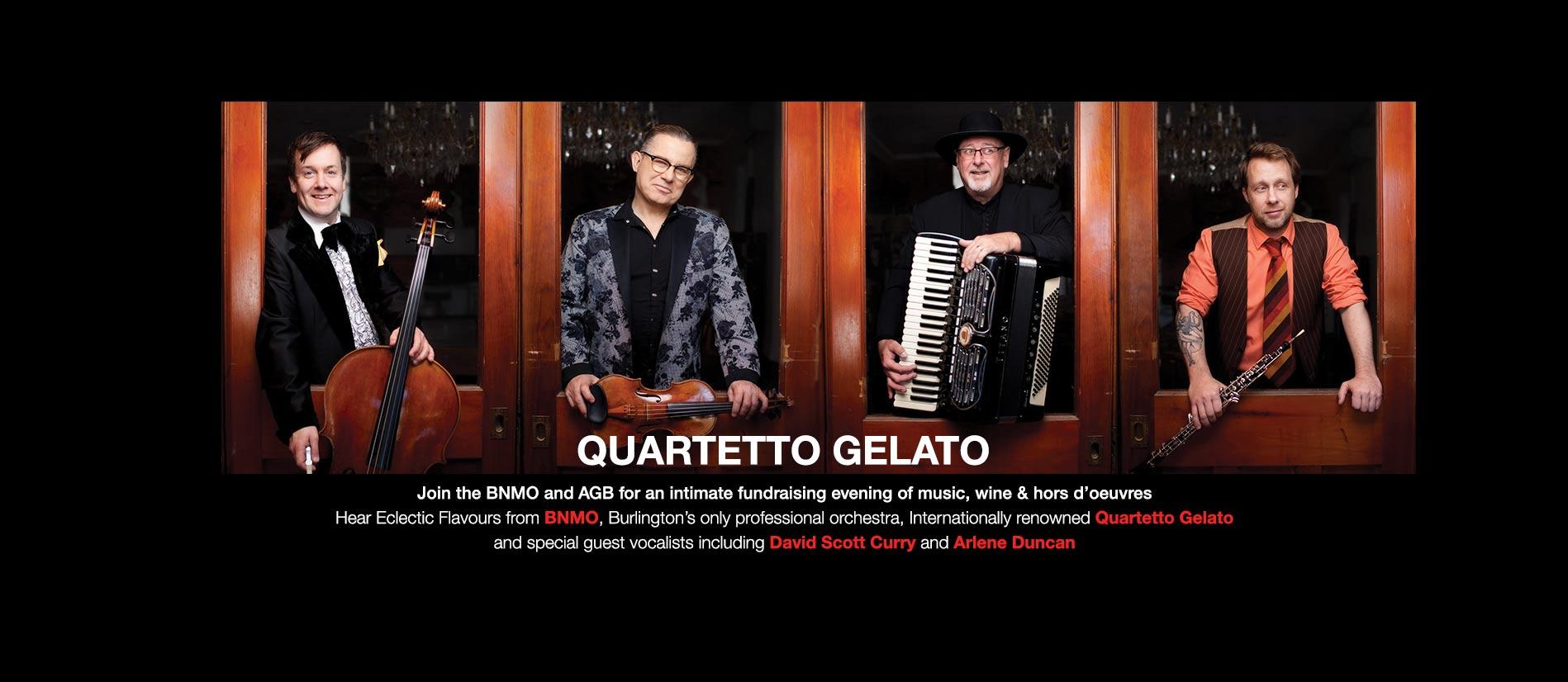 Internationally renowned Quartetto Gelato